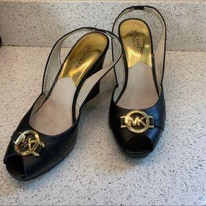 Michael Kors Peep Toe Wedges size 6 1/2
